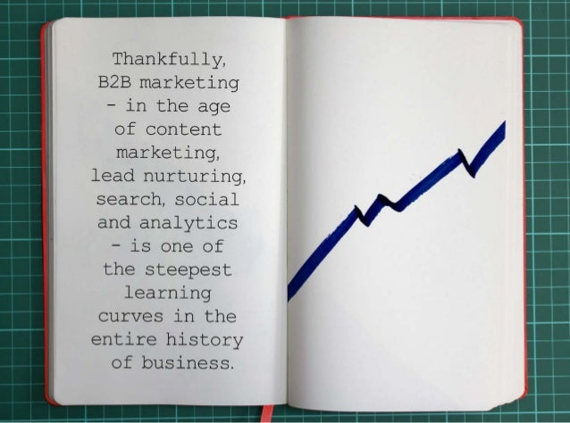 Thankfully, B2B marketing -- in the age of content marketing, lead nurturing, search, social  and analytics -- is one of t...