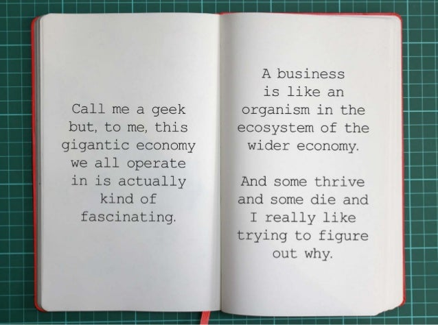 Call me a geek but, to me, this gigantic economy we all operate in is actually kind of fascinating.  A business is like an...