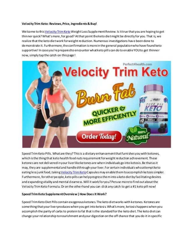 Velocity Trim Keto Reviews Price Ingredients Buy