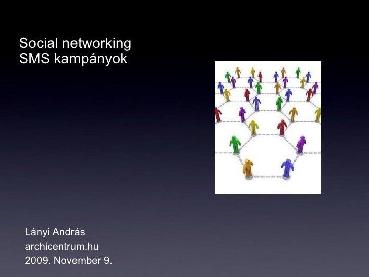 Social networking  SMS kampányok Lányi András archicentrum.hu 2009. November 9.