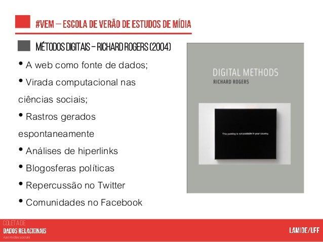 COLETA DE nas mídias sociais Políticasdecessãodedadosdafacebookgraphapi • As políticas de cessão de dados de cada platafor...