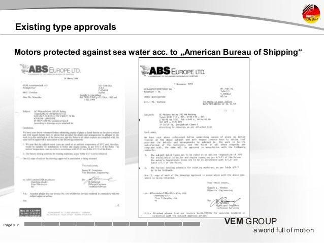 Vem energy efficiency in shipbuilding - Abs american bureau of shipping ...