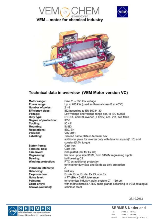 Vemochem electric motors for chemical oil and gas industry for Certified motors bear de