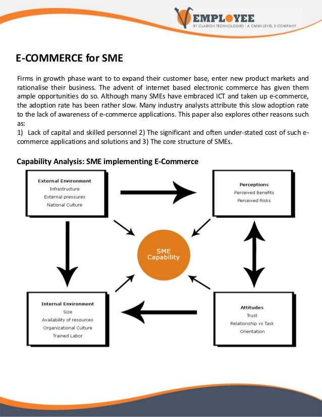 E-COMMERCE for SME Firms in growth phase want to to expand their customer base, enter new product markets and rationalise ...
