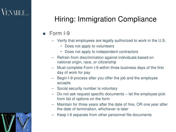 Immigration issues e verify