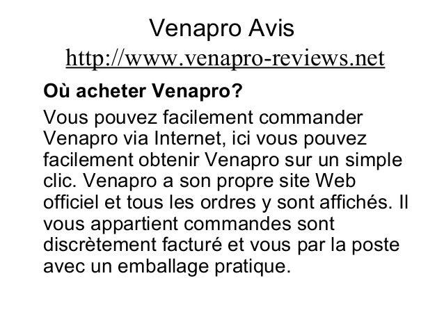 Venapro Avis http://www.venapro-reviews.net Où acheter Venapro? Vous pouvez facilement commander Venapro via Internet, ici...