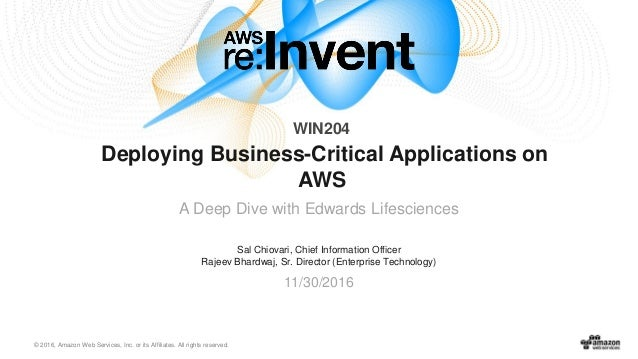 AWS re:Invent 2016: How to move 1,000 VMs and Biz Critical
