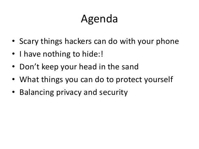 How to make your mobile phone safe from hackers Slide 3
