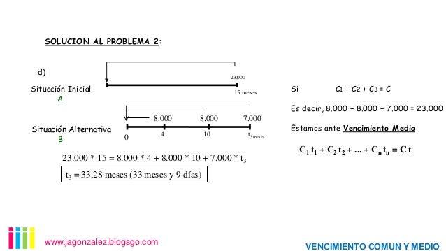SOLUCION AL PROBLEMA 2:  .  d)  .  23,000  Situación Inicial A  15 meses  . 8.000  Situación Alternativa B  8.000  4  . 7....