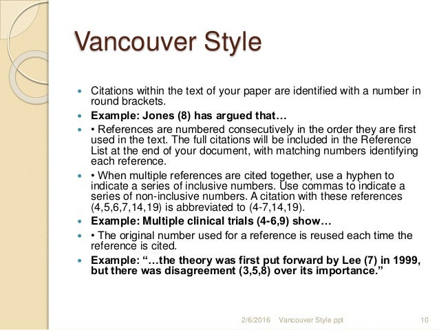 Vencouver styleppt vancouver style citations ccuart Gallery
