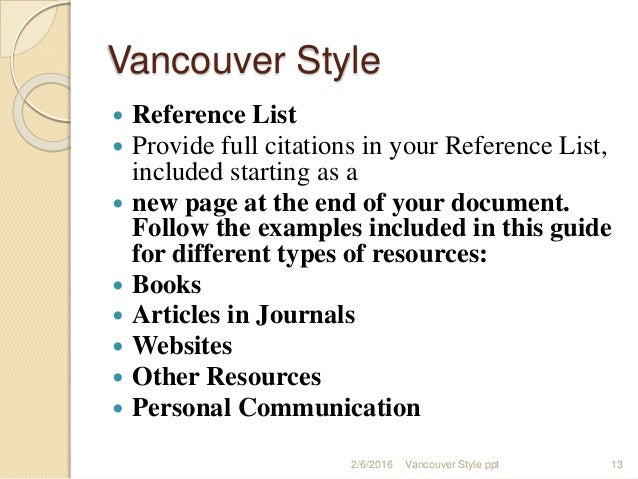 vencouver-styleppt-13-638 Vancouver Format Example on paper examples, layout examples, medium examples, source examples, text examples, more examples, output examples, origin examples, style examples, resolution examples, purpose examples, media examples, organization examples, capacity examples, label examples, sales role play examples, place examples, content examples, information examples,