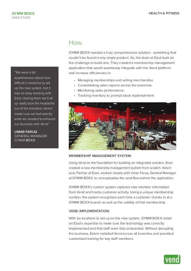 GYMM BOXX   Vend Case Study Slide 2