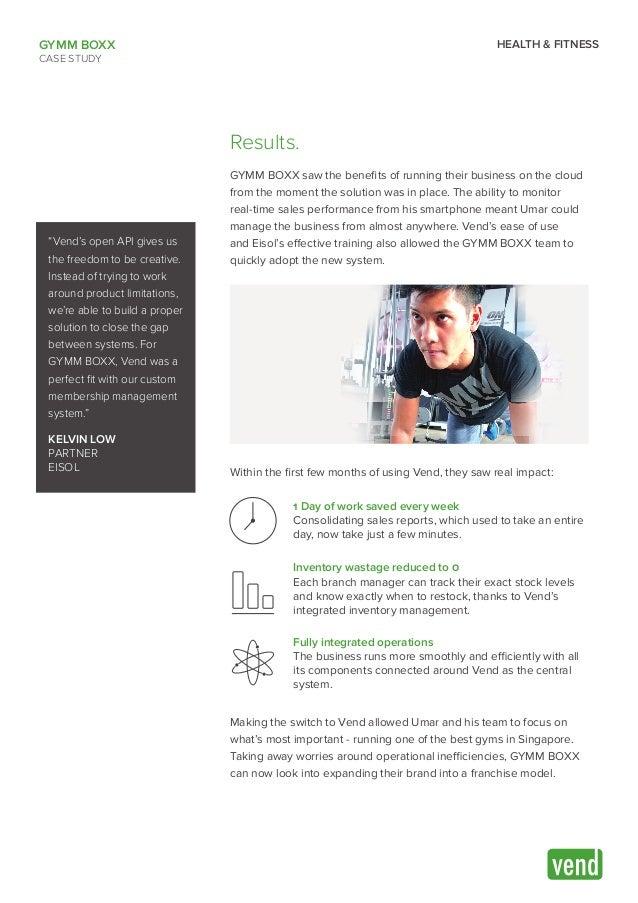 GYMM BOXX   Vend Case Study Slide 3