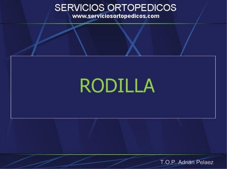 Tratar inestabilidades de rotación                                          T.O.P. Adrián Pelaez