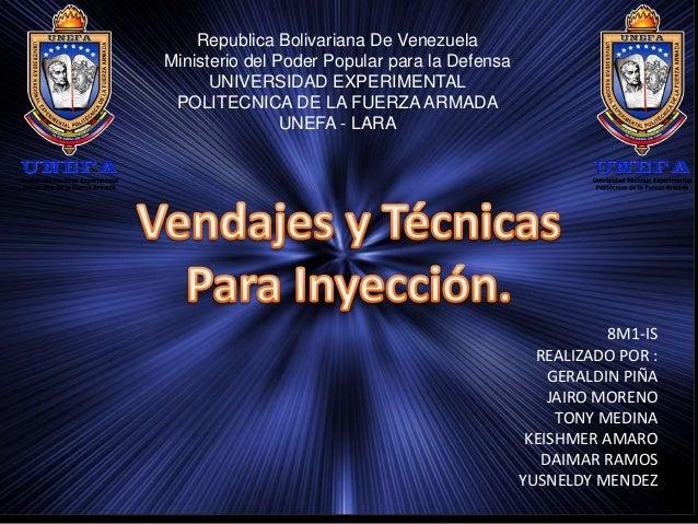 Republica Bolivariana De Venezuela Ministerio del Poder Popular para la Defensa UNIVERSIDAD EXPERIMENTAL POLITECNICA DE LA...