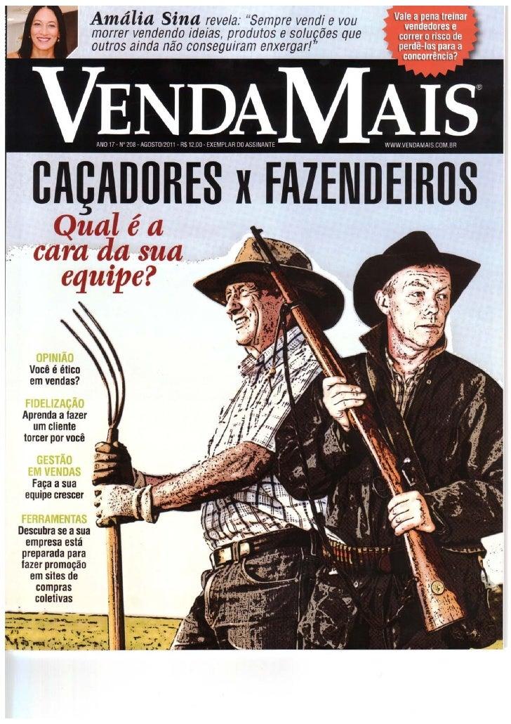 Vendedores Caçadores X Vendedores Fazendeiros