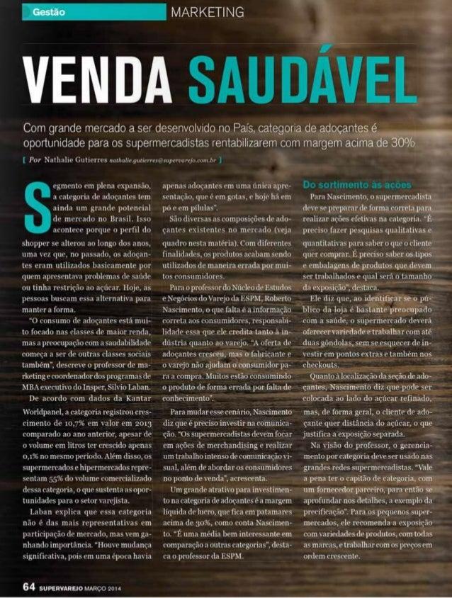 Venda Saudavel - Roberto Nascimento