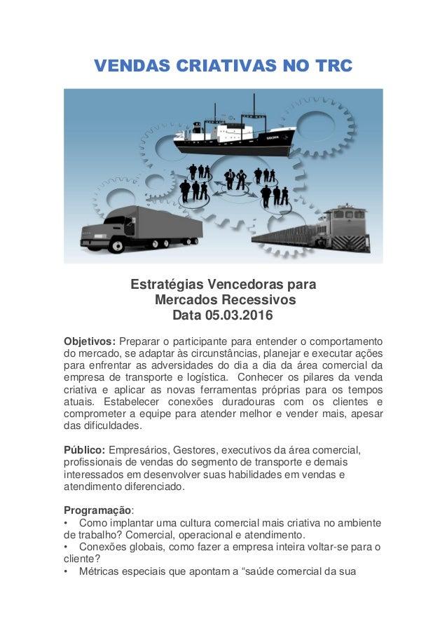 VENDAS CRIATIVAS - TRANSPORTE DE CARGAS Slide 2