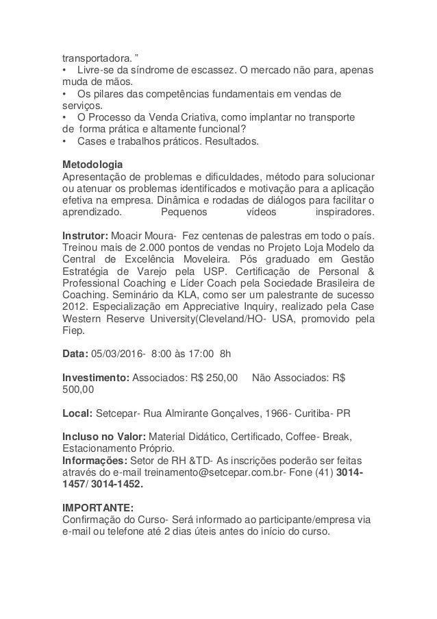 VENDAS CRIATIVAS - TRANSPORTE DE CARGAS Slide 3