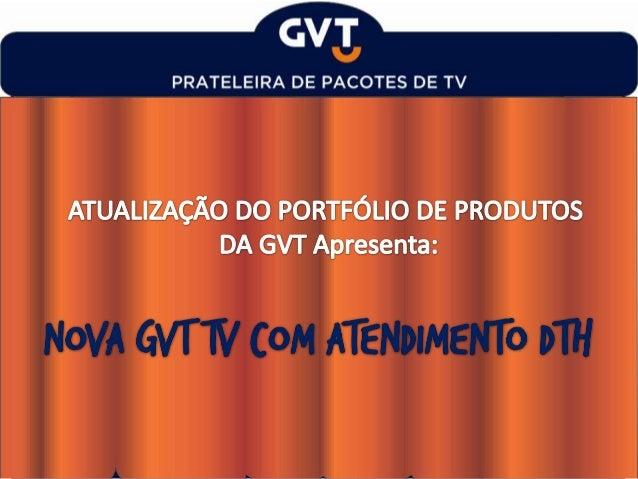A GVT está aumentando o seu portfólio de TV... ...O novo produto DTH é voltado para clientes que priorizam a experiência d...