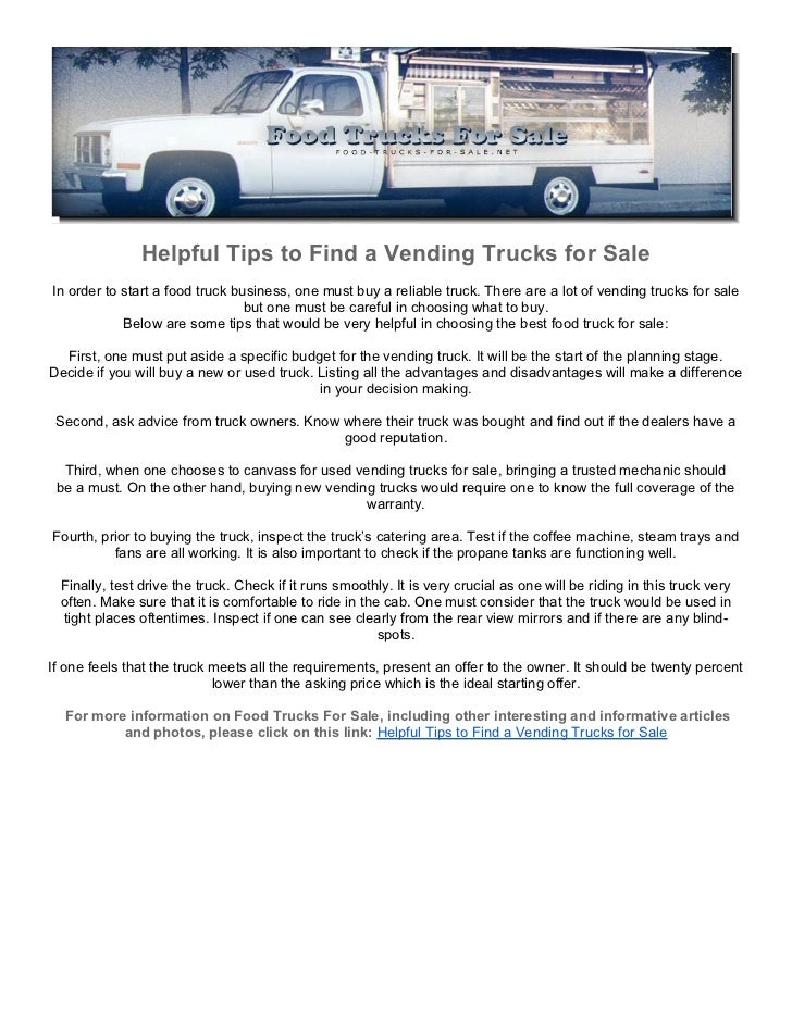 Listing All Trucks >> Helpful Tips To Find A Vending Trucks For Sale