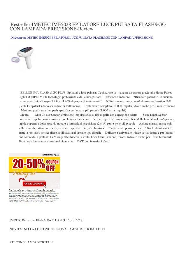 vendita epilatore luce pulsata