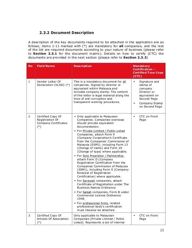 Vendor Application Guidelines