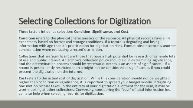 case one digitization customization