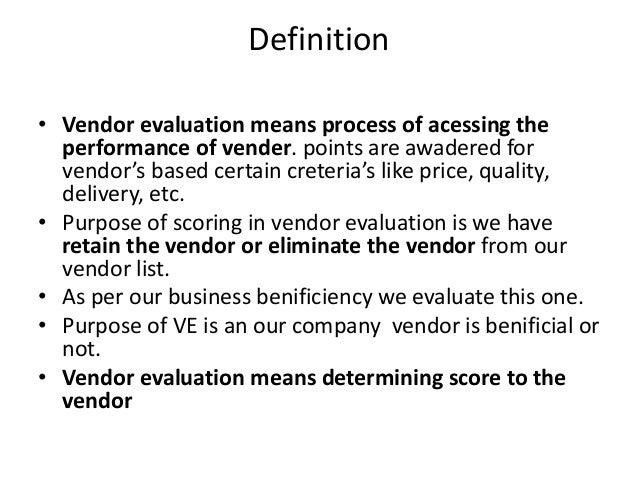 Vendor Evaluation | Sap Mm Vendor Evaluation