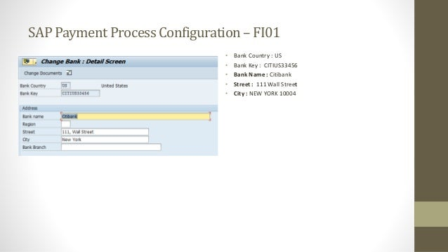 Vendor payments configuration