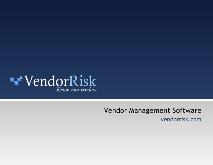 Vendor Management Software vendorrisk.com