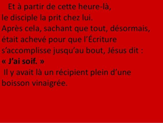 Nicodème – celui qui, au début, était venu trouver Jésus pendant la nuit – vint lui aussi ; il apportait un mélange de myr...