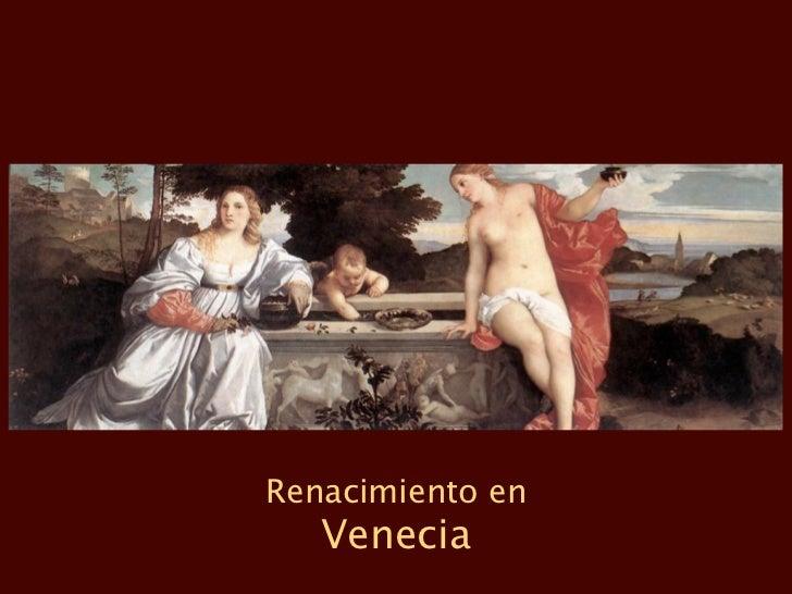 Renacimiento en   Venecia