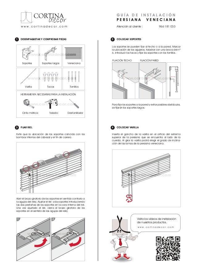 Como instalar venecianas cortinadecor - Como cambiar una persiana ...