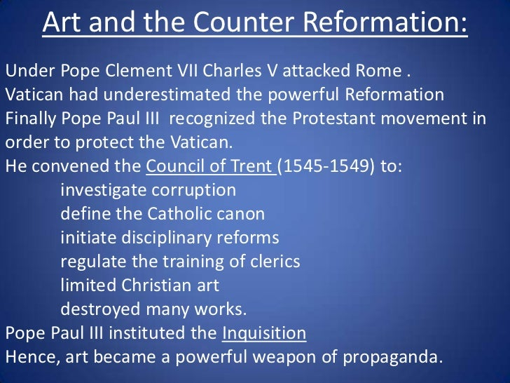 The Catholic Reformation and Counter-Reformation PowerPoint Presentation, PPT - DocSlides
