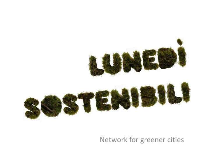 Network forgreenercities<br />
