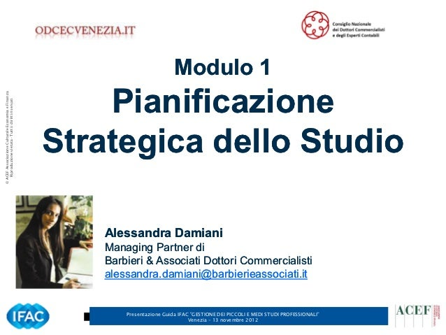 Modulo 1                                                          Pianificazione© ACEF Associazione Culturale Economia e F...