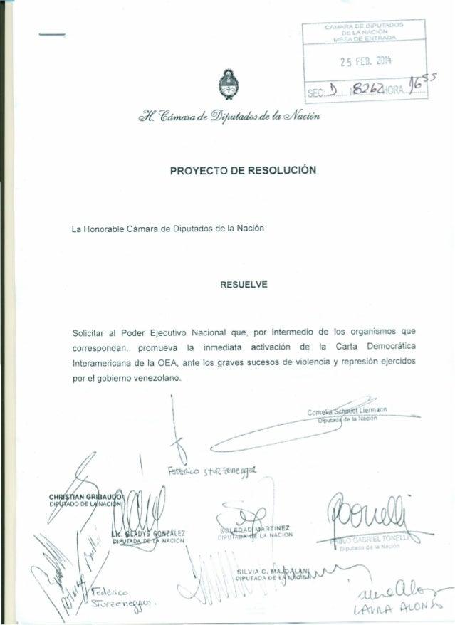 PROYECTO DE RESOLUCiÓN  La Honorable Cámara de Diputados de la Nación  RESUELVE  Solicitar al Poder Ejecutivo correspondan...
