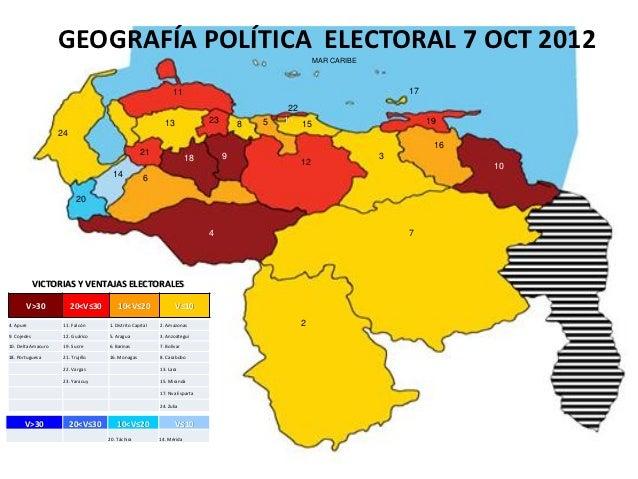 GEOGRAFÍA POLÍTICA ELECTORAL 7 OCT 2012                                                                                   ...