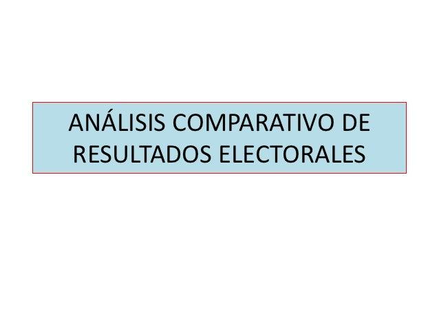 ANÁLISIS COMPARATIVO DERESULTADOS ELECTORALES