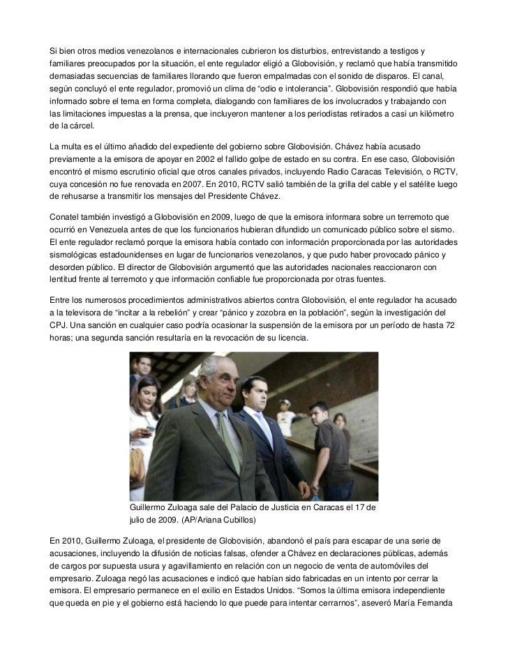Si bien otros medios venezolanos e internacionales cubrieron los disturbios, entrevistando a testigos yfamiliares preocupa...