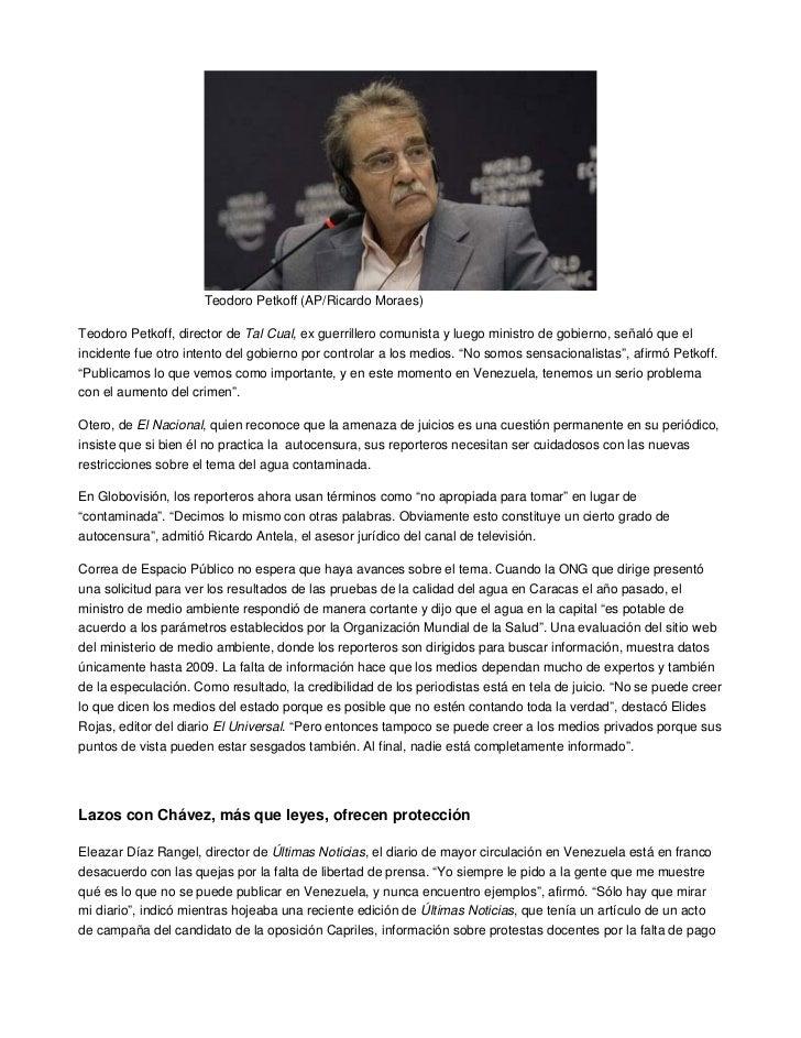 Teodoro Petkoff (AP/Ricardo Moraes)Teodoro Petkoff, director de Tal Cual, ex guerrillero comunista y luego ministro de gob...