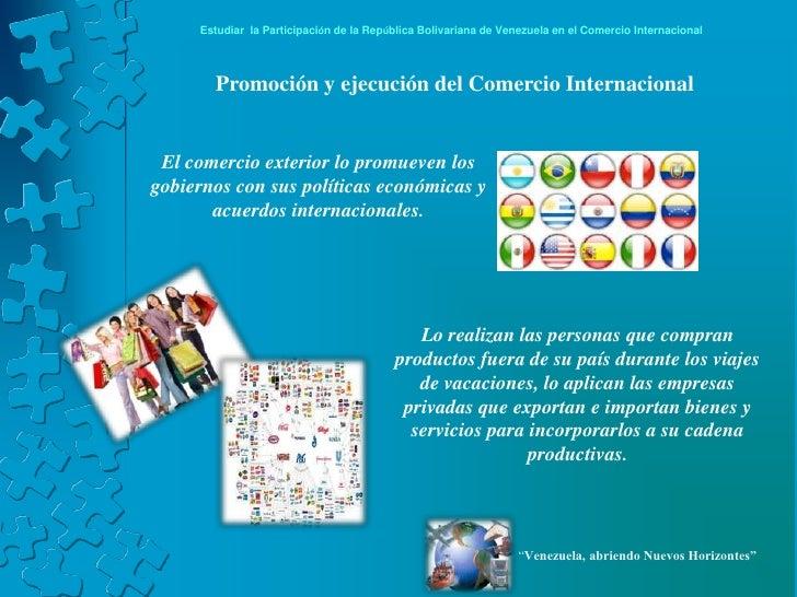 Venezuela En El Comercio Internacional