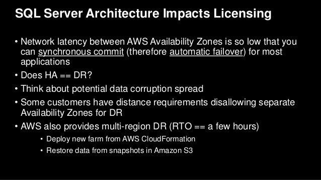 AWS re:Invent 2016: Bring Microsoft Applications to AWS to Save Money…