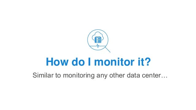 How do I monitor it? Similar to monitoring any other data center…