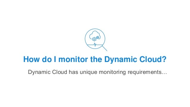 How do I monitor the Dynamic Cloud? Dynamic Cloud has unique monitoring requirements…