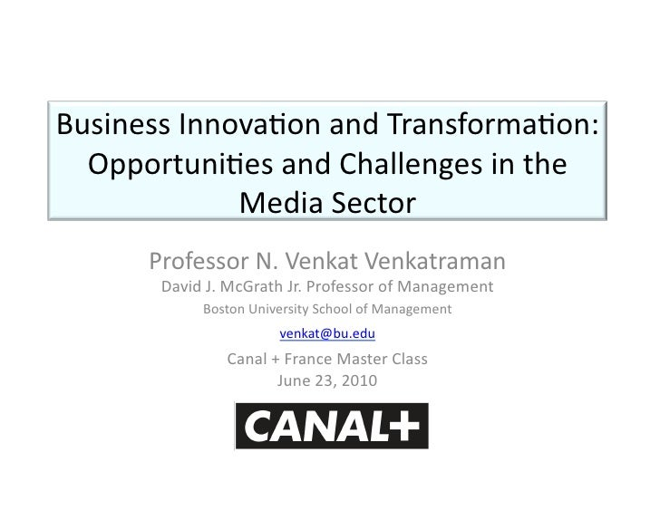 Venkatraman_MasterClass@CanalPlus