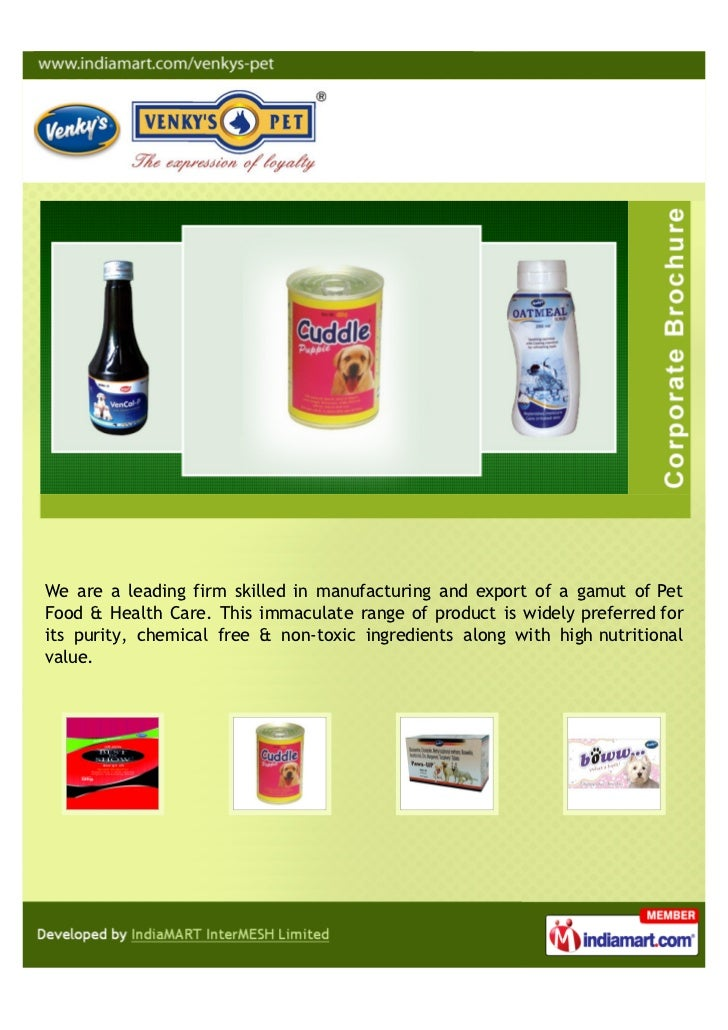 We are a leading firm skilled in manufacturing and export of a gamut of PetFood & Health Care. This immaculate range of pr...