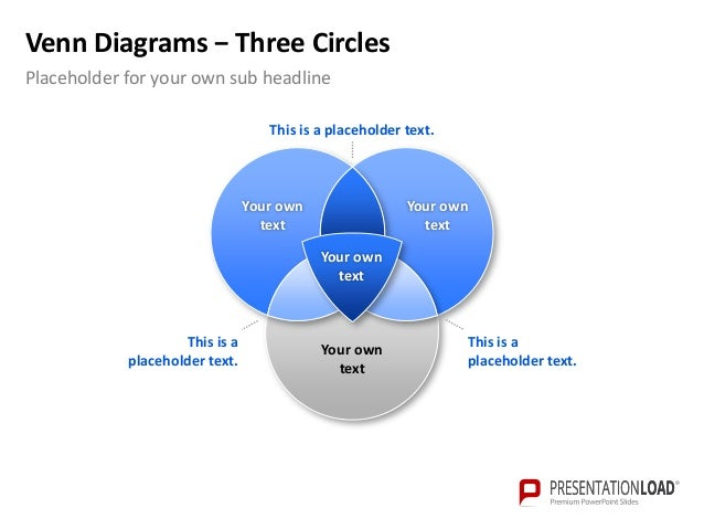 powerpoint venn diagram template, Modern powerpoint