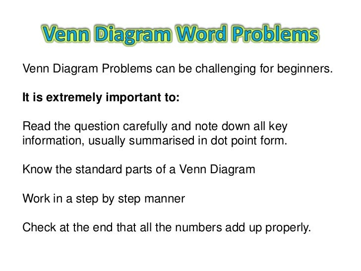Help Solving Venn Diagram Word Problems Trusted Wiring Diagram